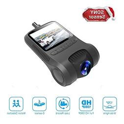 【2018 Newest】 YUZES Dashboard Camera,2 Inch LCD Full HD