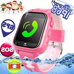 2019 upgrades waterproof kids smart watch phone
