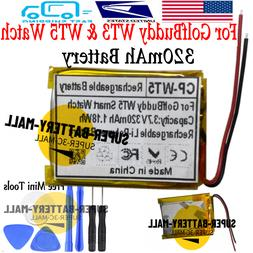 For Golf Buddy WT3 & WT5  Battery GPS Watch 320mAh Rechargea