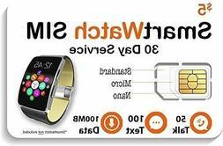 $5 Smart Watch SIM Card for 2G 3G 4G LTE GSM Smartwatches an