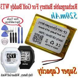 520mAh Rechargeable Battery For Golf Buddy WT3 Smart watch G