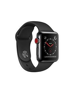 Apple Watch Series 3 38mm Space Black Stainless Steel Case
