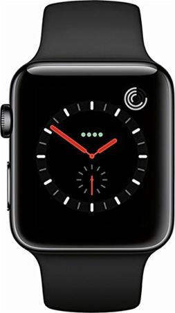 Apple Watch Series 3, 42MM, GPS + Cellular, Space Black Stai