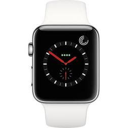 Apple Watch Series 3, 42MM, GPS + Cellular, Stainless Steel