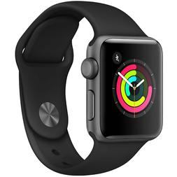 Apple Watch Series 3 42mm GPS Space Gray Aluminum Black Spor