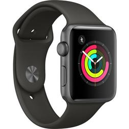 Apple Watch Series 3 , 42mm Space Gray Aluminum Case with Gr