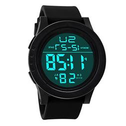 AutumnFall Sports Watches, Men's LED Waterproof Digital Quar