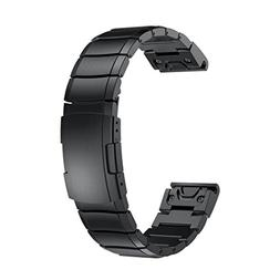 AutumnFall for Garmin Fenix 5X Wristbands, Genuine Stainless