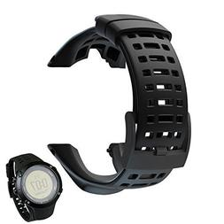 BUPADEALER Luxury Rubber Watch Replacement Band Strap For Su