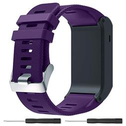 Bossblue Purple Replacement Band for Garmin Vivoactive HR GP