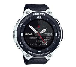 Casio Men's 'PRO TREK' Quartz Resin Outdoor Smartwatch, Colo