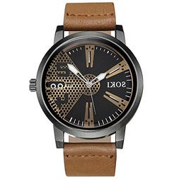 Casual Fashion Nylon Strap Analog Quartz Round Wrist Watch W