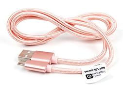 DURAGADGET Rose Gold Micro USB Data Sync Charging Cable for