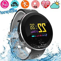 Fitness Tracker Waterproof IP68 Smartwatch for Swimming Hear