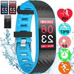 Fitness Tracker waterproof IP67 Watch Heart Rate Blood Press
