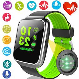 Fitness Tracker with Heart Rate Blood Pressure Monitor Smart