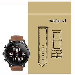 For Amazfit Stratos Band, Lamshaw Crazy Leather Strap Replac