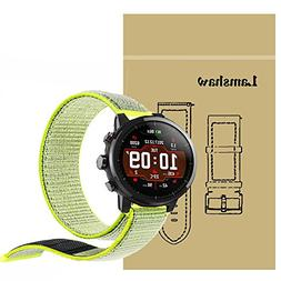 For Amazfit Stratos Bands, Lamshaw Breathable Nylon Replacem