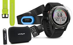 Garmin Fenix 5 Sapphire  Performer Bundle with HRM-Tri Chest