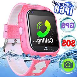 IP68 Waterproof Kid Smart Watch Phone GPS Tracker Smartwatch
