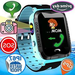 Kid Smart Watch Phone GPS Tracker IP67 Waterproof Fitness Tr