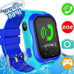 Kids Smart Watch Phone - IP68 Waterproof Kid Smartwatch Accu