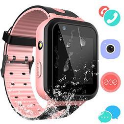 Kids Waterproof Smart Watch Phone - Boys & Girls IP67 Water-