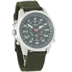 GPS Watch Military NATO Strap Latitude 100 Meters Water Res