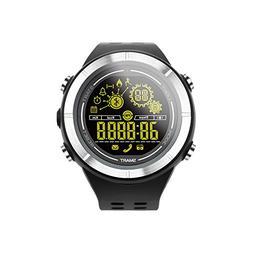 MOREFINE Bluetooth Digital Watch with Stopwatch Pedometer Ca