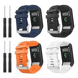 MoKo Watch Band for Garmin Vivoactive HR,  Soft Silicone Rep