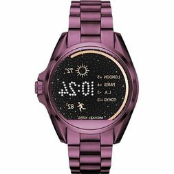 NEW WOMENS MICHAEL KORS  BRADSHAW ACCESS PLUM TOUCHSCREEN SM