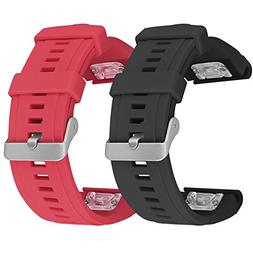 SKYLET Garmin Fenix 5X Bands, 2 Pack Silicone Replacement Ac