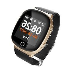 T.Face D100 Smart Watch GPS LBS WIFI Positioning Sos Watch E