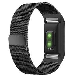 TOOGOO Replacement Bands for Fitbit Charge 2, Stainless Stee