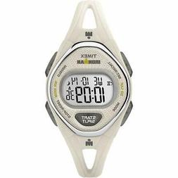 Timex Women's TW5M10800 Ironman Sleek 50 White Silicone Stra