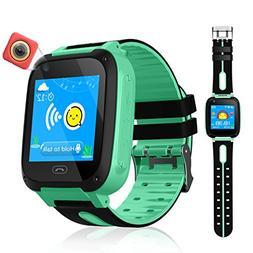 VEAQEE GPS Tracker Kids Smart Watch for Children Girls Boys