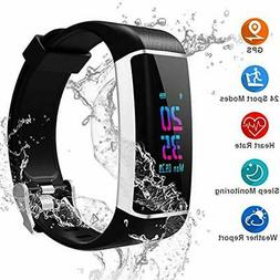 YOUNGDO GPS Fitness Tracker, Color Screen Activity Tracker W