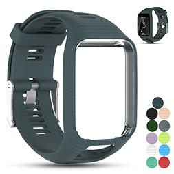 Feskio Accessory Replacement Soft Silicone Gel Watch Band Wr