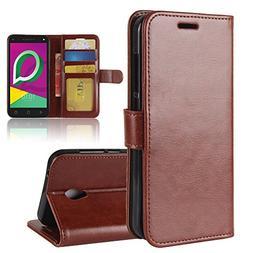 Alcatel U5 3G  Case, Alcatel U5 3G  Cover Thin Flip Cover Ca