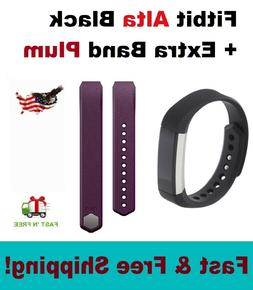 Fitbit Alta Activity Tracker Black Bundle Small or Large + e