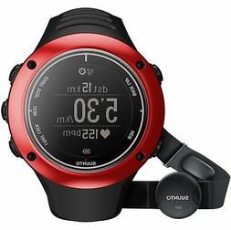 SUUNTO AMBIT2 S RED HR GPS Sports Watch with Heart Rate Moni