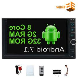 EinCar Android 7.1 Octa Core Double Din Car Stereo with 7 In