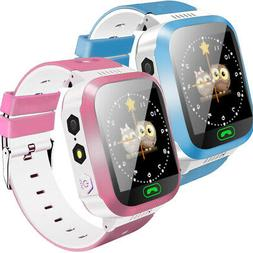 Anti-lost Kid Safe GPS Tracker* SOS Call GSM Smart Watch Pho
