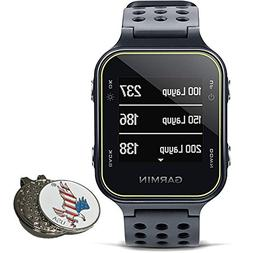 Garmin Bundle Approach S20 Golf GPS Watch, Slate + 1 Custom