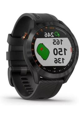 approach s40 golf watch black w stainless