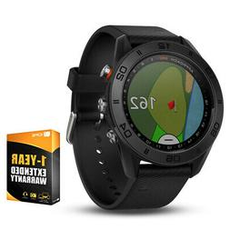 Garmin Approach S60 Golf Watch Black with Black Band + 1 Yea