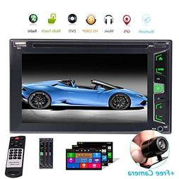 Backup Camera + GPS Double Din Car Stereo Radio DVD MP3 Play