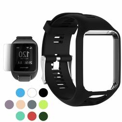 Band for TomTom Runner 2 3 Spark 3 Replacement Silicone Stra