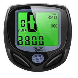 bicycle speedometer odometer wireless waterproof