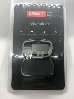 Timex Black Pedometer Calculates Steps Calories Burned Dista